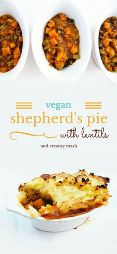 VEGAN SHEPHERD'S PIE WITH LENTILS AND CREAMY MASH