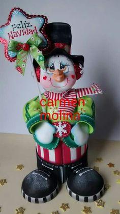 Navidad Candy Bouquet, Snowman, Santa, Diy Crafts, Facebook, Christmas Ornaments, Holiday Decor, Ideas, Decorating Cakes