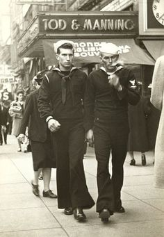 Oh Baby! Yowza...sailors 40s found street photo, hot.