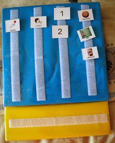 "El baúl de A.L: PECS: Libro de comunicación ""TIRA FRASE"" Ideas Para, Triangle, Blog, Preschool, David, Frases, School, Sentence Structure, Children With Autism"