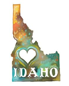 Idaho  vertical print by thewheatfield on Etsy, $18.00