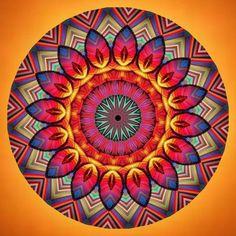 danse de joie dans le soleil levant ; dance of joy in the rising sun; dans de bucurie în răsăritul soarelui; dança da alegria no sol nascente; Mandala de Pierre Vermersch Art Digital