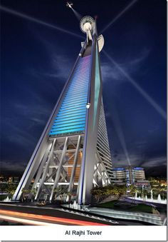 Al Rajhi Tower, proposed 430 m tower, Riyad, Saudi Arabia, Atkins #architecture. Astrogeographioc position: in the romantic combination of the service orientated air sign Libra indicator of love and relationships with the spiritual and highly imaginative water sign Pisces indicator of a relaxed atmosphere. Both valid for morphogenetic field level 3.