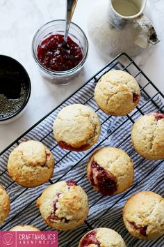 Craftaholics Anonymous®   Easy Jam Filled Muffins: a delicious idea and recipe to eat and to gift.