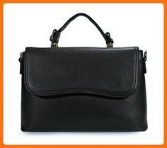 Scarleton Simple Classic Flap Satchel H174801 - Black - Satchels (*Amazon Partner-Link)