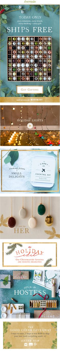 A very #merry Monday with #freeshipping on every order at #shopterrain November 30