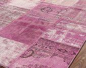 Tapis - Patchwork Vintage tapis - moquette de tons rose - VINTAGE ...