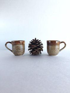 Mt. Pinatubo Ash Glaze Demitasse Cups Set of by SandHollowVintage