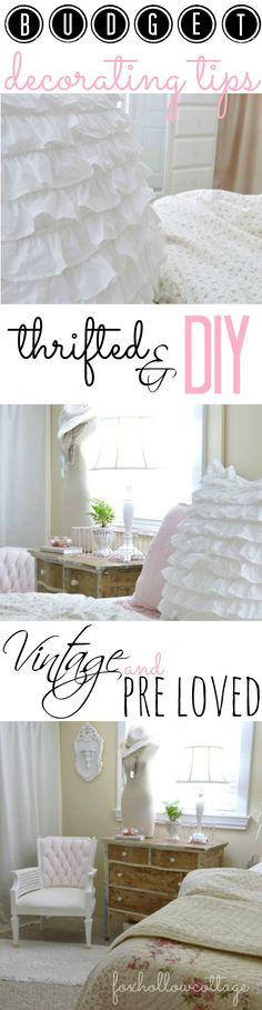 BUDGET Decorating Tips:: for vintage, thrift store, diy, painted furniture and more!