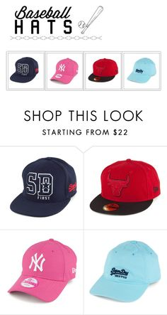 """""""Baseball hats"""" by fashionbylexi ❤ liked on Polyvore featuring Superdry"""