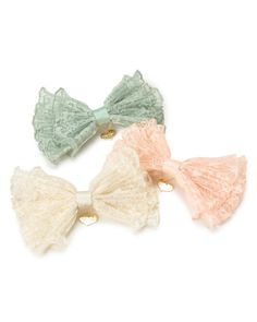Liz Lisa lace bows- I just love a good bow. esp in lace