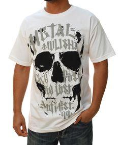 Metal Mulisha Men's Calligraphy Short Sleeve Crewneck Graphic T-Shirt