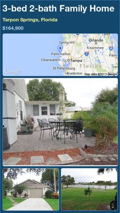 3-bed 2-bath Family Home in Tarpon Springs, Florida ►$164,900 #PropertyForSale #RealEstate #Florida http://florida-magic.com/properties/79553-family-home-for-sale-in-tarpon-springs-florida-with-3-bedroom-2-bathroom