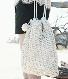 en crochet y marinero para la playa