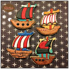 Pirate sugar cookies. Pirate ships.