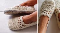 Lacy Crochet Slippers (Free Pattern)