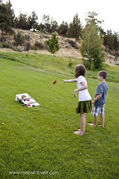 DIY beanbag toss game how-to