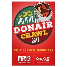 twitter updates at @HFXDonairCrawl From @kingofdonair  DONAIRS BY DONATION! Stop by KOD on Quinpool Road this Saturday between 2-4pm for the 3rd annual Donair Crawl.  All proceeds will be donated to the @iwkfoundation.  Be sure to check out the other great vendors supporting this cause as they will be pumping out the following Donair goodies - Donair doughnuts Donair pizza Donair popcorn Donair spice Donair cheesecake Donair burgers Donair pie Donair egg rolls Greek style Donairs.  3rd…