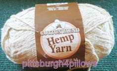 1 - Darice - Hemp Yarn - Cotton Blend - 2 Ply - 200 Yards - 4 Ozs. - Natural - 2003 by pittsburgh4pillows on Etsy