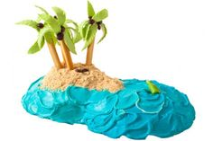 How to make a Tropical Island Birthday Cake