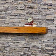 Pearl Mantels Hadley Fireplace Shelf Mantel & Reviews | Wayfair Modern Fireplace Mantels, Fireplace Mantel Surrounds, Rustic Fireplaces, Traditional Fireplace, Wall Mounted Fireplace, Fireplace Shelves, Wood Fireplace, Fireplace Inserts, Ethanol Fireplace