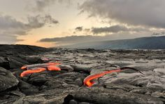 magma flow, hawaii - Photography by James Binder