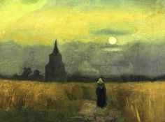Vincent Van Gogh - The old tower in the fields - 1884