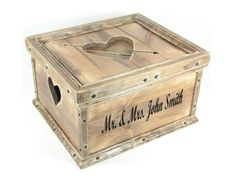 Wedding Card Box Custom Personalized Wood Hope Chest Wooden Keepsake Memory Box