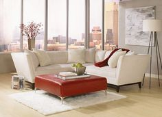 "Contemporary and comfortable? Yes! You get the best of both worlds with the Jonathan Louis ""Lee"" Sofa."