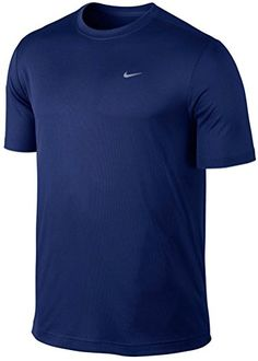 NIKE Men'S Nike Dri-Fit Deep Royal Challenger Running Short Sleeve T-Shirt. #nike #cloth #