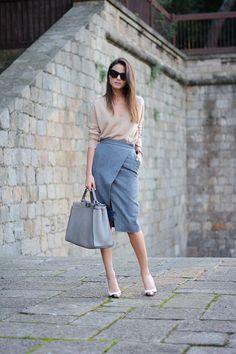 Skirt: & Other Stories (Similar), Bag: Fendi, Heels: Christian Louboutin, Sweater: Zara (Similar), Sunglasses: Celine, Furry Accessory: Maje, Watch: Daniel Wellington