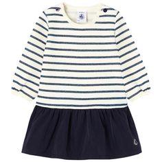 Petit Bateau - Striped bi-material dress - 203417