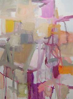 Kate Long Stevenson. Mandarin. Oil, chalk pastel and gouache on canvas. 36 x 48.