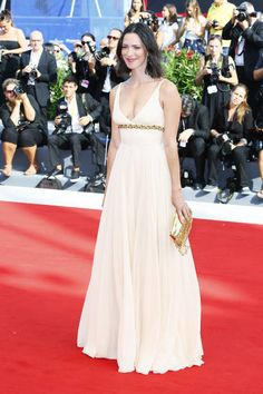 Rebecca Hall walks the red carpet ahead of the 'First Reformed' screening during the 74th Venice Film Festival at Sala Grande on August 31 2017 in...
