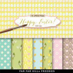 New Freebies Kit of Backgrounds - Happy Easter!:Far Far Hill - Free database of digital illustrations and papers