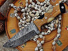 Bello regalo di Natale fatto a mano Damasco coltello Skinner + sacchetto