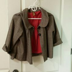 Super cute jacket ! Light weight, has a tiny stitch tear under tag shown. Jacket wants a new owner who will love it and wear it unlike current owner who no longer fits into it and has it hidden in the back of her closet... Copper Key Jackets & Coats