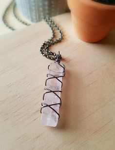 Hey, I found this really awesome Etsy listing at https://www.etsy.com/listing/585609783/wire-wrapped-rose-quartz-pendant