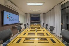 Berlim Coworking Campinas Brazil Coworking Space, Conference Room, Spaces, Table, Design, Furniture, Home Decor, Berlin, Campinas