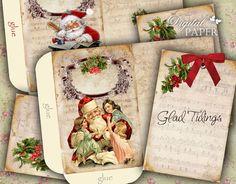 Santa Claus  Envelopes  digital collage sheet  by bydigitalpaper, $4.65