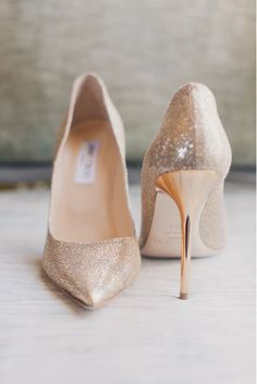 Gold white silver wedding shoes heeled pumps photography Jimmy Choos luxe glam