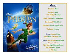 Disney Meal #33 - Peter Pan