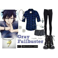 Casual cosplay of Gray Fullbuster (from Fairy Tail anime series)-- character inspired outfit