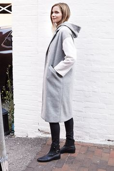 Drop Shoulder Coat - Sterling | Emerson Fry