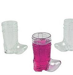 The perfect bachelorette party favor for a Western theme Bachelorette Party - these Plastic Western Boot Shot Glasses will be a hit! YEEE HAW!