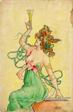 Absinthe Posters at The Virtual Absinthe Museum: Maquettes for Absinthe Blanqui…