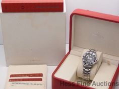 Genuine Midsize Omega Seamaster Professional Chronometer Divers Watch Box Papers #Omega #LuxurySportStyles