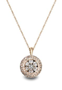 see details here:Effy Jewelry Rose Gold Diamond Pendant, .98 TCW