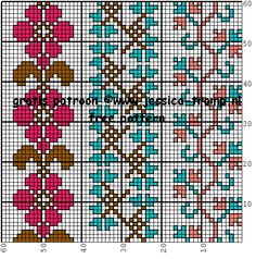 dmc cross stitch patterns D.M.C. borduurpatronen kruissteekpatronen