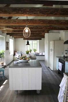 Wooden beams, wooden floor, smeg, perfect!